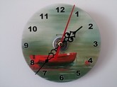 Red Boat Clock